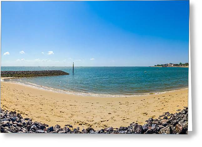 North Sea Greeting Cards - Long Beach on Island in German North Sea Greeting Card by JR Photography