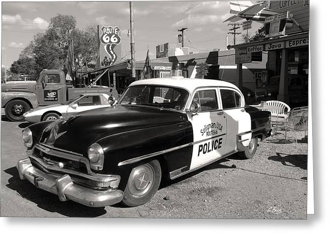 Law Enforcement Art Photographs Greeting Cards - Long Retired Monochrome Greeting Card by Gordon Beck