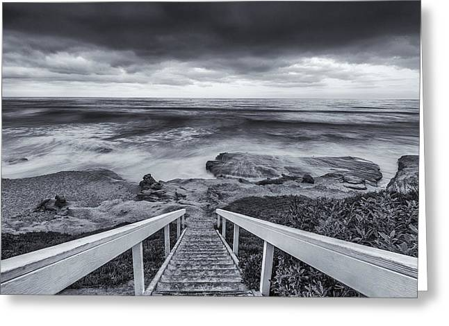 California Ocean Photography Greeting Cards - Looking Down Greeting Card by Joseph S Giacalone