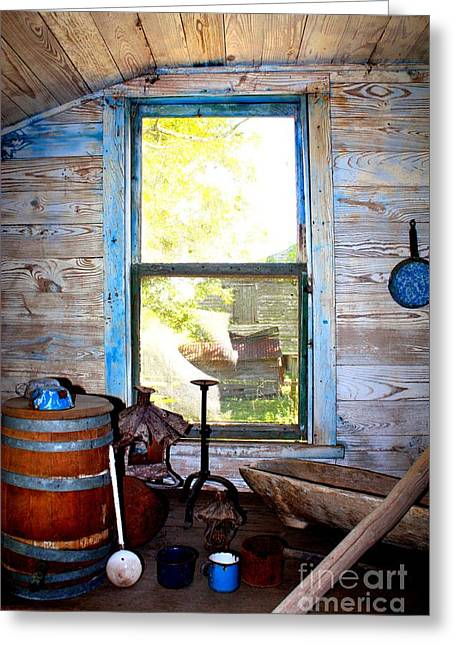 Slave Quarters Photographs Greeting Cards - Looking Out  Greeting Card by Carol Groenen