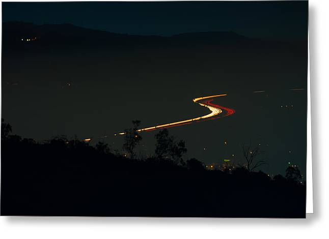 Exposure Greeting Cards - Los Angeles from Griffith Observatory Greeting Card by Celso Diniz