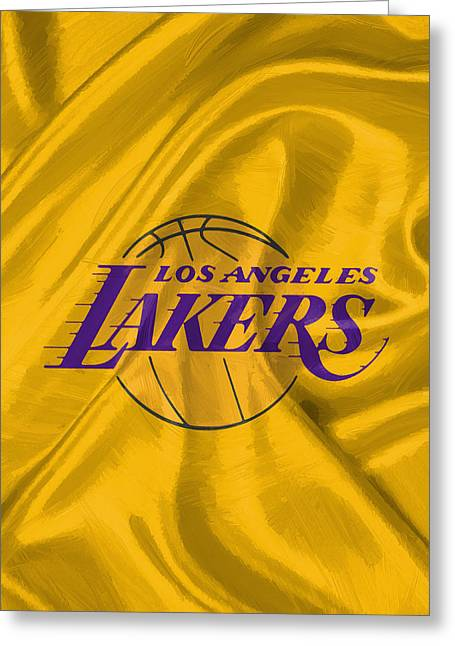 Los Angeles Lakers Greeting Card by Afterdarkness