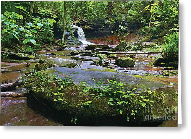 Cornucopia Paintings Greeting Cards - Lost Creek Falls Greeting Card by Joel LeGrande