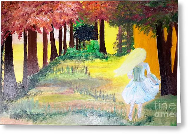Shack Greeting Cards - Lost Girl Greeting Card by Cindy  Riley