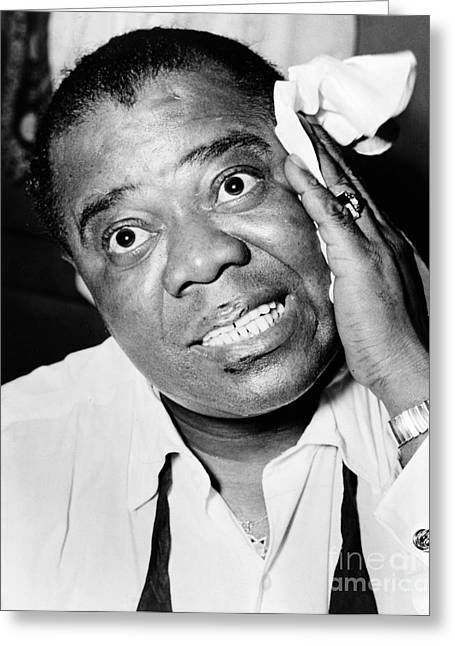 Satchmo Greeting Cards - Louis Armstrong 1900-1971 Greeting Card by Granger