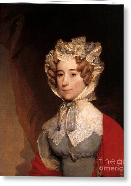 Louisa Adams, First Lady Greeting Card by Science Source