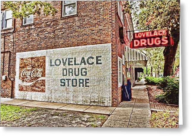 Drug Stores Greeting Cards - Lovelace Drug Store Greeting Card by Scott Pellegrin