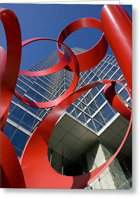 Low Angle View Of A Sculpture In Front Greeting Card by Panoramic Images