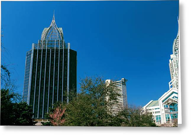 Low Angle View Of Skyscrapers, Mobile Greeting Card by Panoramic Images