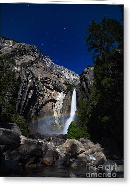 Rare Moments Greeting Cards - Lunar Rainbow Greeting Card by Anthony Bonafede