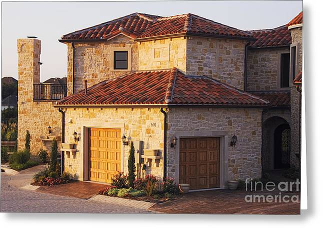 Flagstone Greeting Cards - Luxury Home Greeting Card by Jeremy Woodhouse