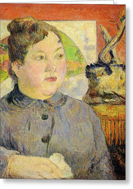 Famous Artist Greeting Cards - Madame Alexandre Kohler Greeting Card by Paul Gauguin
