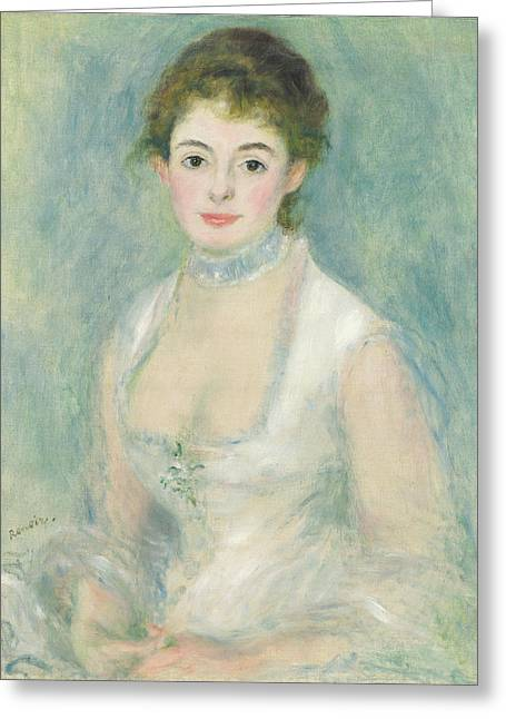 Famous Artist Greeting Cards - Madame Henriot Greeting Card by Auguste Renoir