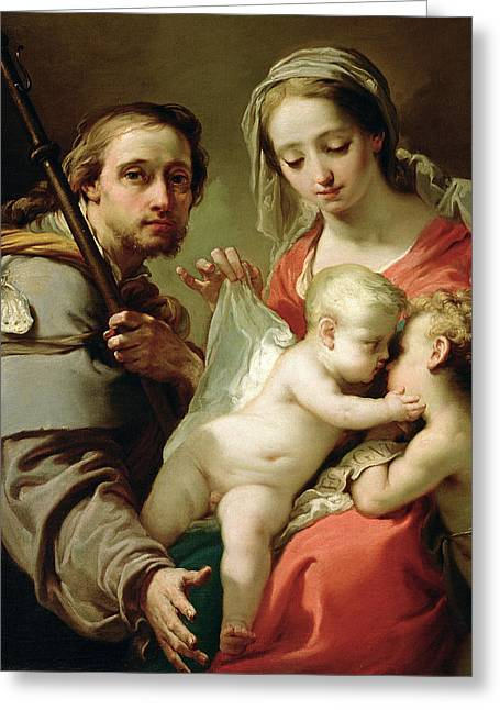 Religious Paintings Greeting Cards - Madonna and Child Greeting Card by Gaetano Gandolfi