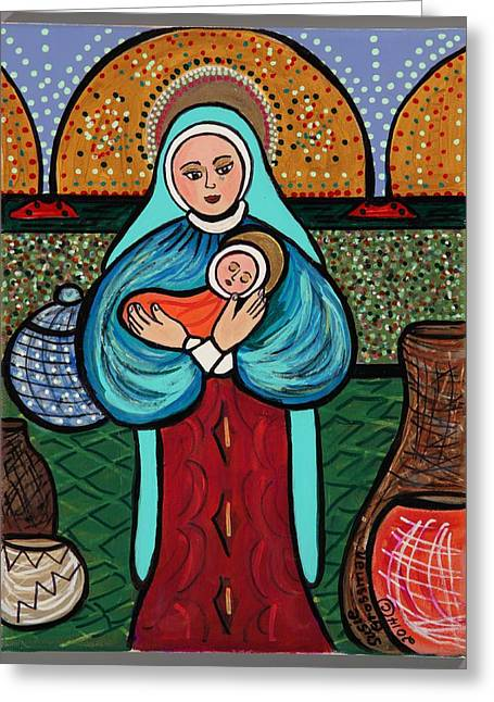 Child Jesus Greeting Cards - Madonna and Child  Greeting Card by Susie Grossman