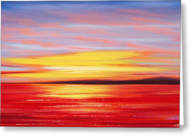 Greeting Cards - Magic at Sunset Greeting Card by Gina De Gorna