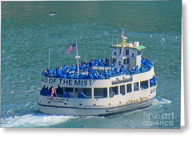 Fall Photographs Pastels Greeting Cards - Maid of the Mist Greeting Card by John Malone