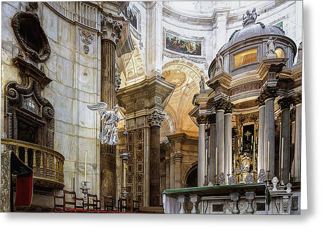 Historical Images Greeting Cards - Main Altar Greeting Card by Maria Coulson