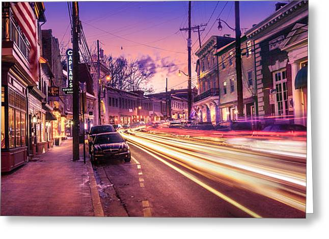 Store Fronts Greeting Cards - Main Street Greeting Card by Paul Gretes