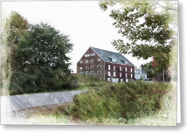 Rural Maine Roads Greeting Cards - Maine Barn Greeting Card by Marcia Lee Jones