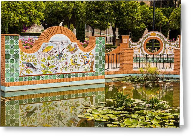 Lilly Pads Greeting Cards - Malaga Spain Greeting Card by Jon Berghoff