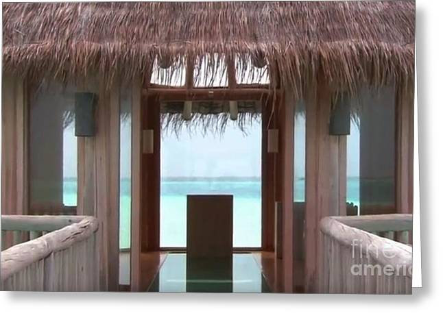 Landscape Framed Prints Greeting Cards - Maldive Islands Interior views of tourist locations Greeting Card by Navin Joshi