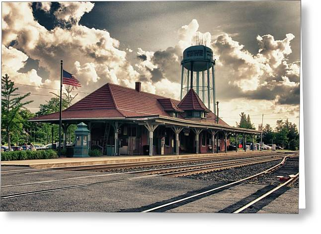 Depot Greeting Cards - Manassas Train Station Greeting Card by Gene Sizemore