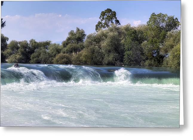 Manavgat Waterfall - Turkey Greeting Card by Joana Kruse