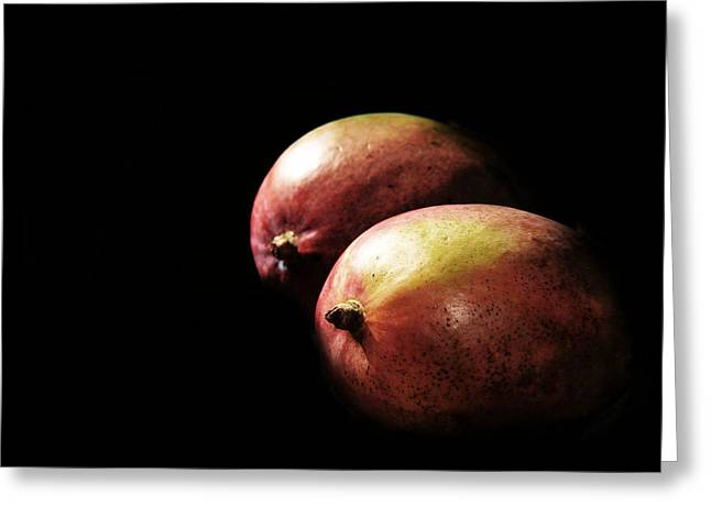 Mango Greeting Cards - Mangoes Greeting Card by Tina M Wenger