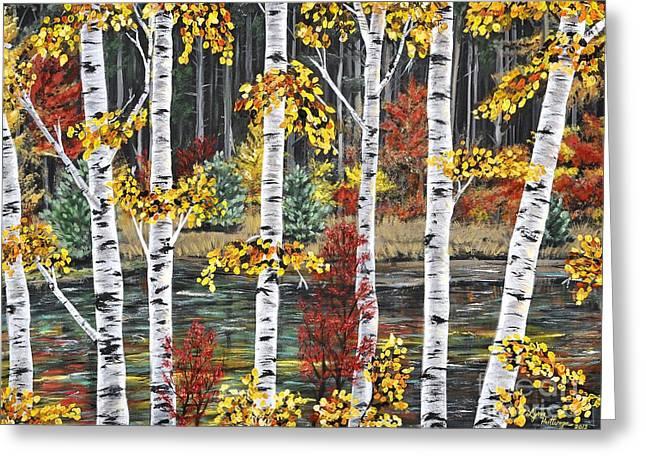 Birch Tree Greeting Cards - Manitoba Birch  Greeting Card by Lynn Huttinga
