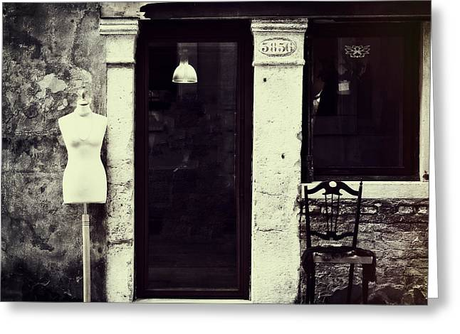 Entrance Door Greeting Cards - Mannequin Greeting Card by Joana Kruse