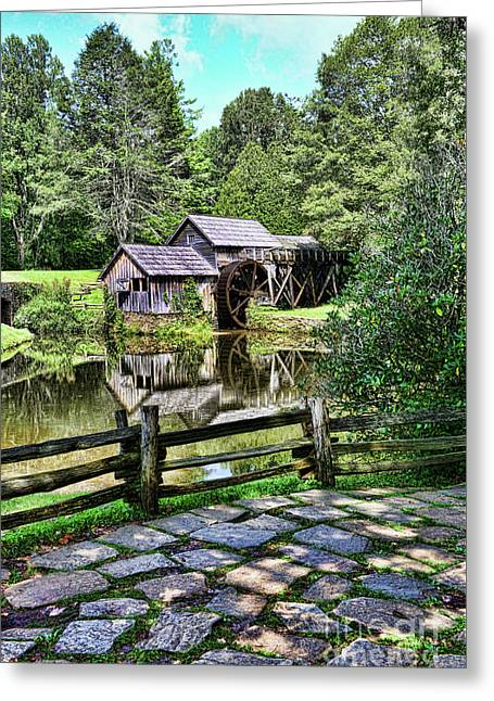 Marby Mill Pathway Greeting Card by Paul Ward