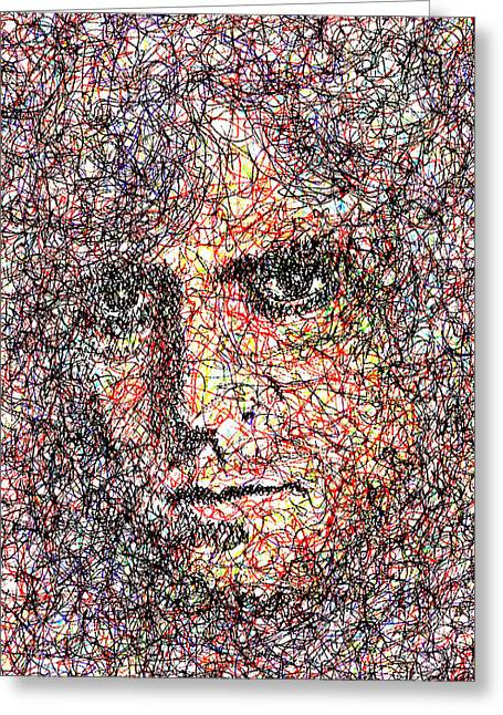 Super Stars Drawings Greeting Cards - Marc Bolan Greeting Card by Brian Keating
