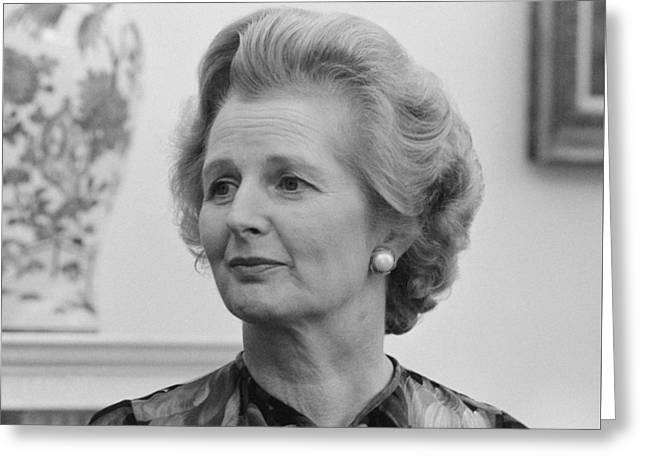 Margaret Thatcher Greeting Card by War Is Hell Store