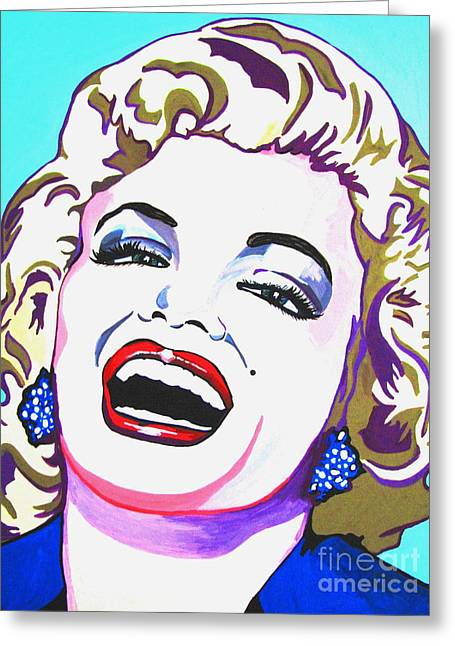 Photo Gallery Mixed Media Greeting Cards - Marilyn Greeting Card by Colleen Kammerer