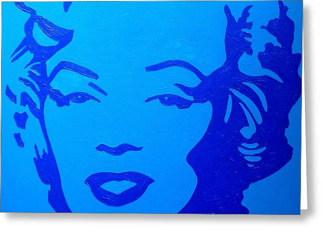 Jeane Greeting Cards - Marilyn Greeting Card by John  Nolan