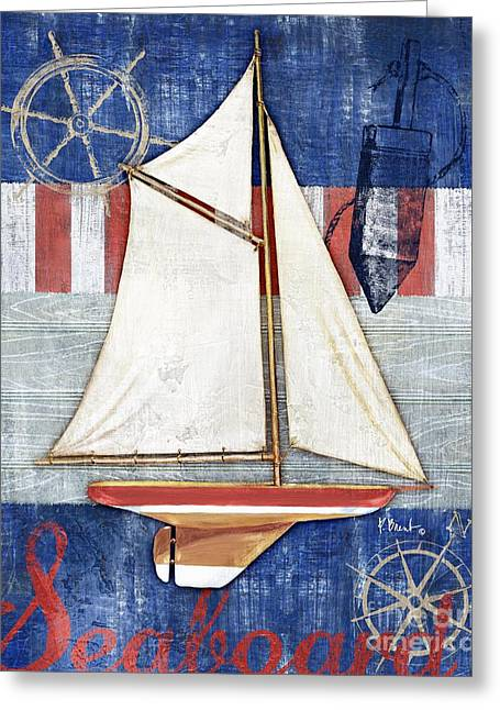 Maritime Paintings Greeting Cards - Maritime Boat II Greeting Card by Paul Brent
