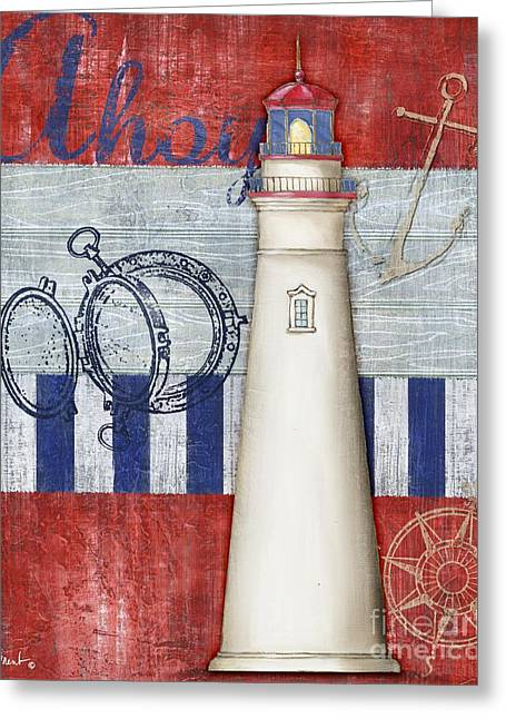 Maritime Paintings Greeting Cards - Maritime Lighthouse I Greeting Card by Paul Brent