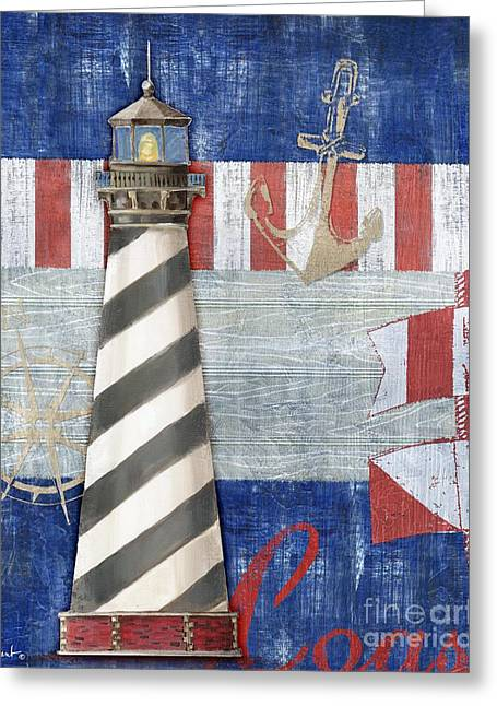 Maritime Paintings Greeting Cards - Maritime Lighthouse II Greeting Card by Paul Brent