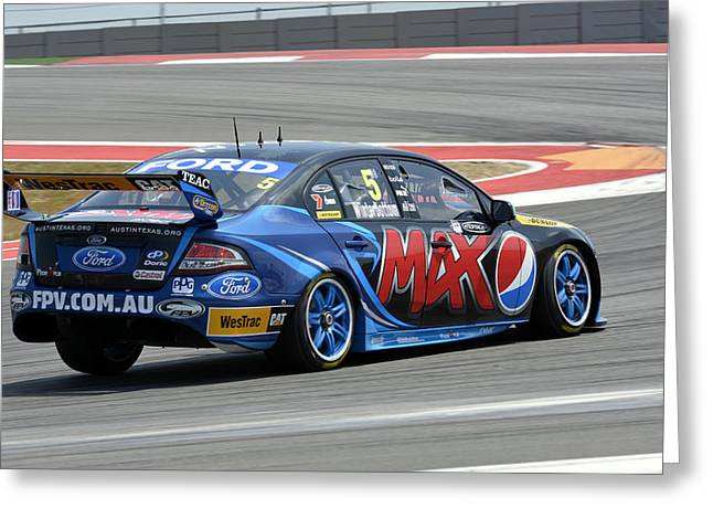 Pepsi Max Greeting Cards - Mark Winterbottom Pepsi Max Ford Falcon Greeting Card by Bourne Images