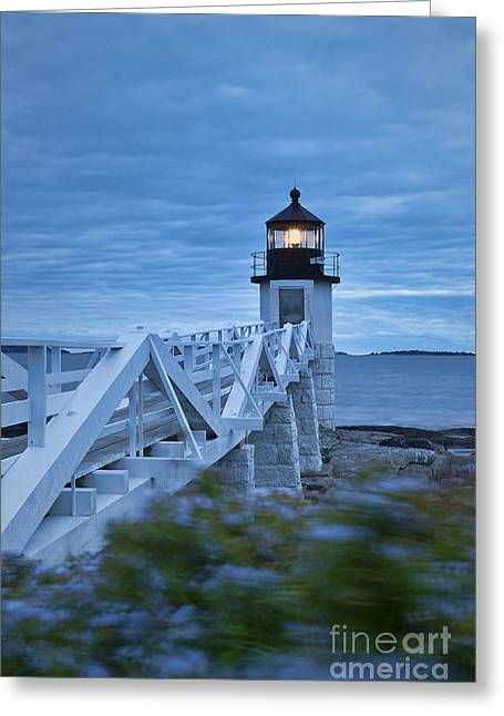 Marshall Point Light Greeting Card by John Greim