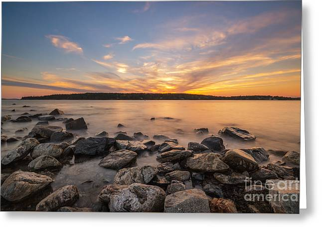 Exposure Greeting Cards - Marshall Point Sunset Greeting Card by Michael Ver Sprill