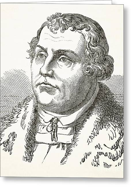 Martin Luther Greeting Card by English School