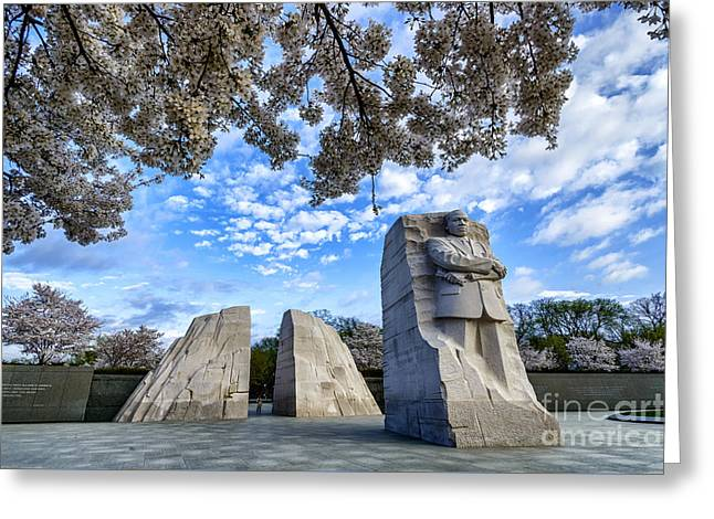 Martin Luther King Jr Memorial Greeting Card by Thomas R Fletcher