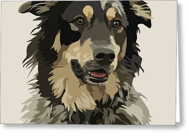 Pet Portraits Digital Art Greeting Cards - Marvelous Mix II Greeting Card by Kris Hackleman