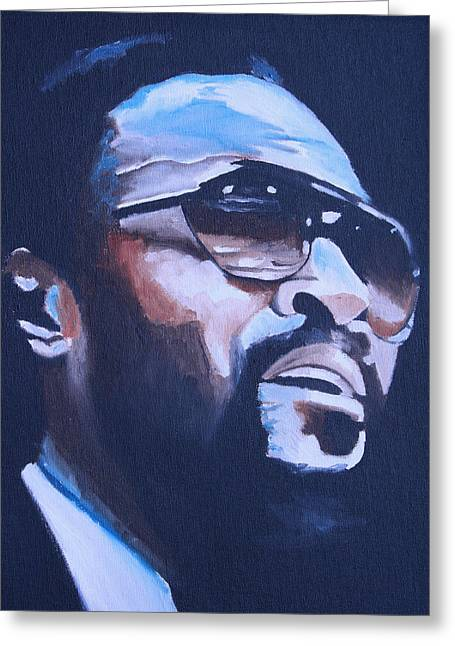 Marvin Gaye. Greeting Card by Mikayla Ziegler