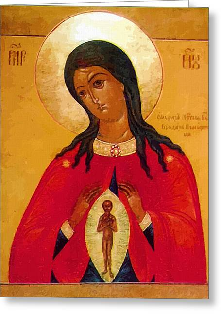 Mary Saint Greeting Card by Christian Art