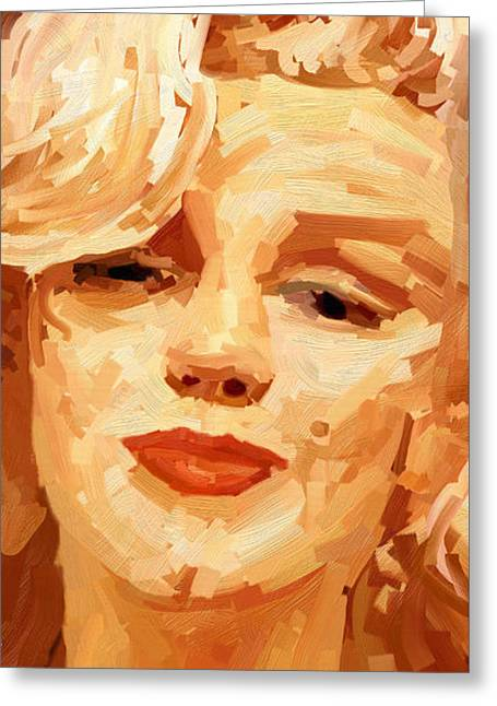 Marylin Monroe 3 Greeting Card by James Shepherd