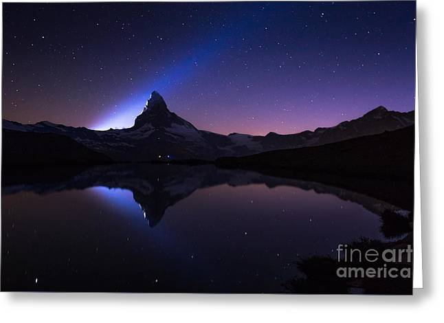 Swiss Photographs Greeting Cards - Matterhorn 150th Anniversary Greeting Card by Alberto Perer