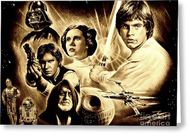 May The Force Be With You Greeting Card by Andrew Read